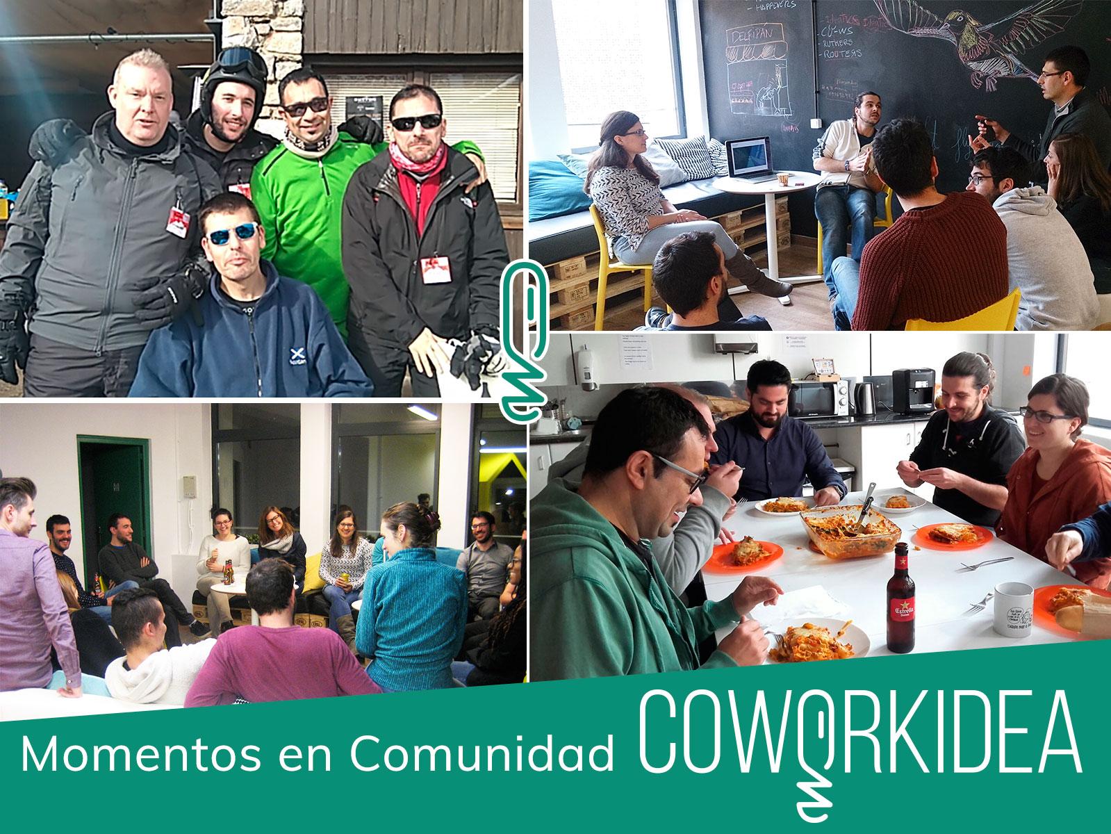 Momentos en comunidad en Coworkidea