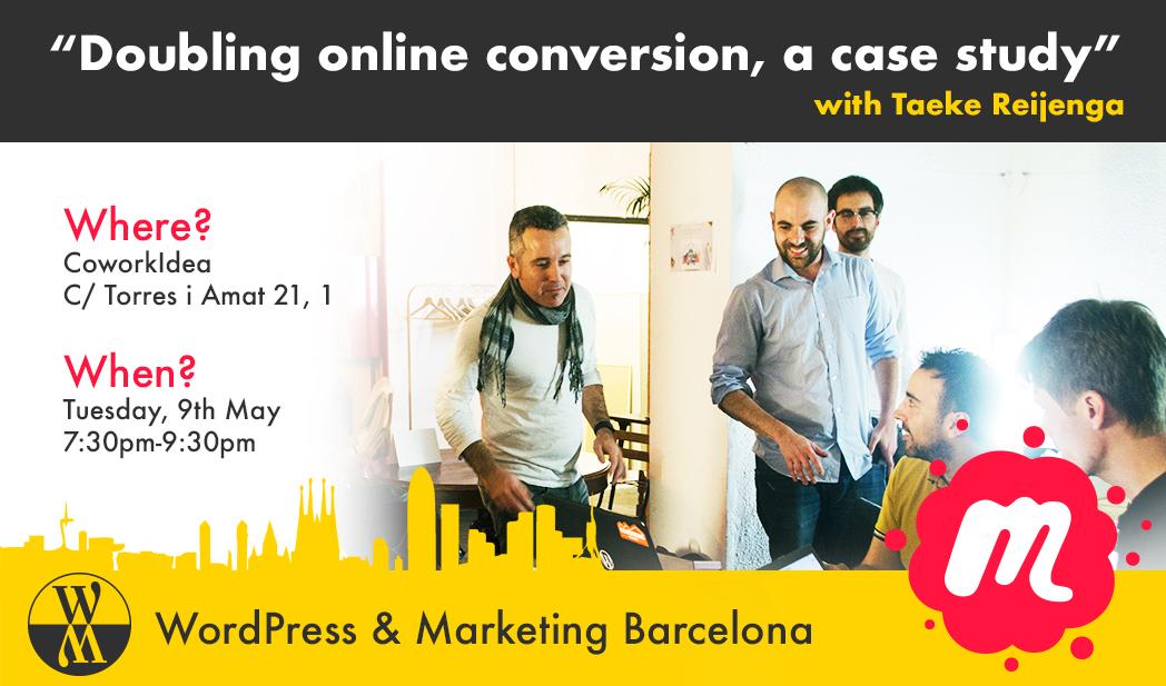 Evento de la comunidad 'Wordpress & Marketing BCN' en CoworkIdea
