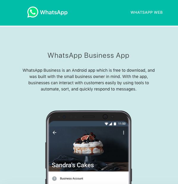 whatsApp Business English