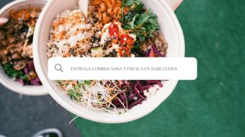 Comida fresca con opción vegana en la oficina | Comer en Coworkidea