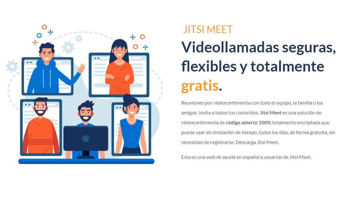Videollamadas seguras flexibles y gratuita con jitsi, herramienta de conferencia online