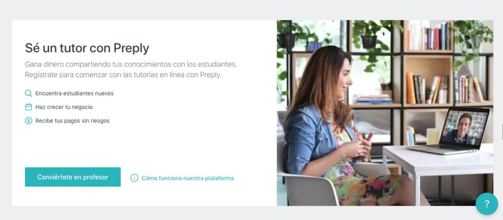 Captura de pantalla aplicación Prepply